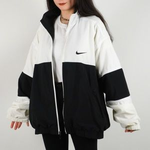 Nike Vintage Black White Windbreaker